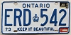 1986 Ontario Keep It Beautiful # ERD-542