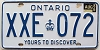 1986 ONTARIO Yours To Discover license plate # XXE-072