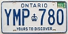 1986 ONTARIO Yours To Discover license plate # YMP-780