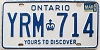 1986 ONTARIO Yours To Discover license plate # YRM-714