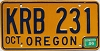 1986 Oregon # KRB-231