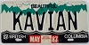 1987 British Columbia Vanity graphic # KAVIAN