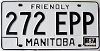 1987 Manitoba friendly # 272-EPP