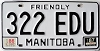 1987 Manitoba friendly # 322-EDU