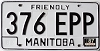 1987 Manitoba friendly # 376-EPP