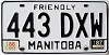 1987 Manitoba friendly # 443-DXW