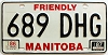 1987 Manitoba friendly # 689-DHG