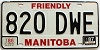 1987 Manitoba friendly # 820-DWE