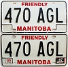 1987 Manitoba friendly pair # 470-AGL