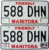 1987 Manitoba friendly pair # 588-DHN
