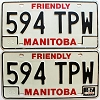 1987 Manitoba friendly pair # 594-TPW