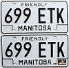 1987 Manitoba friendly pair # 699-ETK