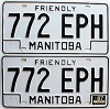 1987 Manitoba friendly pair # 772-EPH