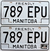 1987 Manitoba friendly pair # 789-EPU