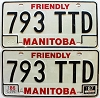 1987 Manitoba friendly Truck pair # 793-TTD