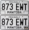 1987 Manitoba friendly pair # 873-EWT