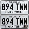1987 Manitoba friendly Truck pair # 894-TWN