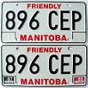 1987 Manitoba friendly pair # 896-CEP