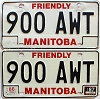 1987 Manitoba friendly pair # 900-AWT