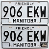 1987 Manitoba friendly pair # 906-EKW