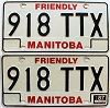 1987 Manitoba friendly Truck pair # 918-TTX