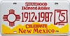 1987 New Mexico Diamond Jubilee front license plate, 75 years