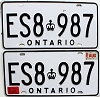 1987 Ontario Commercial pair # ES8-987