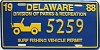 1988 Delaware Surf Fishing Vehicle Permit license plate # 5259