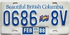 1988 British Columbia Flag graphic Commercial Trailer # 0686-8V