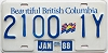 1988 British Columbia Flag graphic Commercial Trailer # 2100-1Y