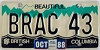 1988 British Columbia Vanity graphic # BRAC 43