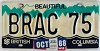 1988 British Columbia Vanity graphic # BRAC 75