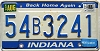 1988 Indiana Home Again graphic # 54B3241