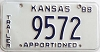 1988 Kansas Apportioned Trailer # 9572