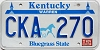 1988 KENTUCKY Churchill Downs graphic license plate # CKA-270