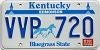 1988 KENTUCKY Churchill Downs graphic license plate # VVP-720