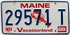 1988 MAINE Lobster graphic license plate # 29571 T