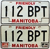 1988 Manitoba friendly pair # 112-BPT