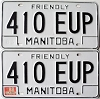 1988 Manitoba friendly pair # 410-EUP