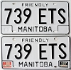 1988 Manitoba friendly pair # 739-ETS