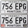 1988 Manitoba friendly pair # 756-EPG