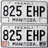 1988 Manitoba friendly pair # 825-EHP