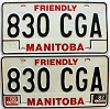 1988 Manitoba friendly pair # 830-CGA