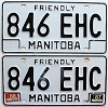 1988 Manitoba friendly pair # 846-EHC