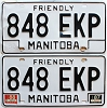 1988 Manitoba friendly pair # 848-EKP