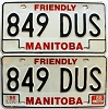 1988 Manitoba friendly pair # 849-DUS