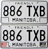 1988 Manitoba friendly pair # 886-TXB