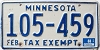 1988 Minnesota Exempt # 105-459