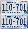 1988 Minnesota Tax Exempt pair # 110-701