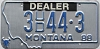 1988 Montana Used Car Dealer # 3UD44-3, Yellowstone County
